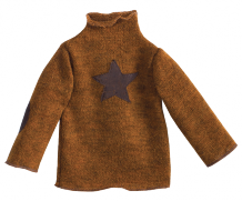 medium Sweather Brown With Star